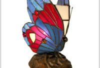 Tiffany Style Butterfly Accent Lamp