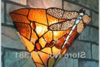 Tiffany Style Dragonfly Wall Lamp