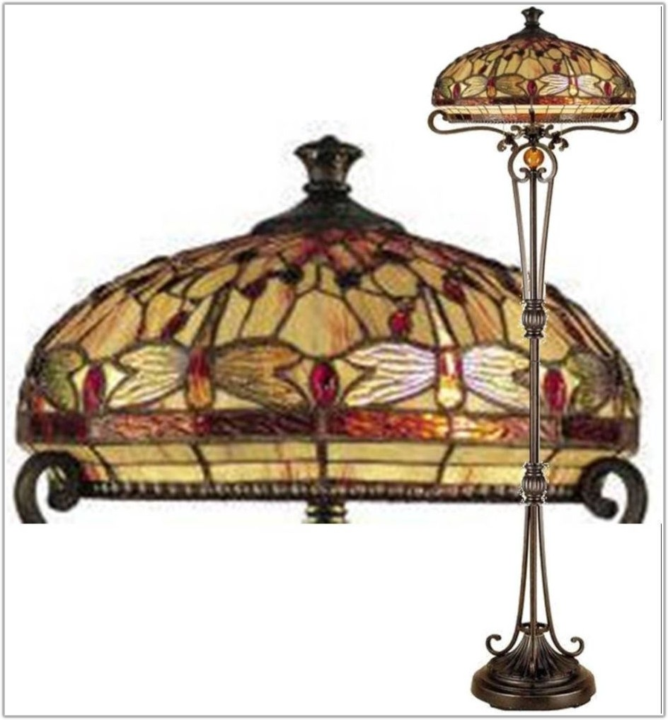 Tiffany Style Floor Lamp Dragonfly