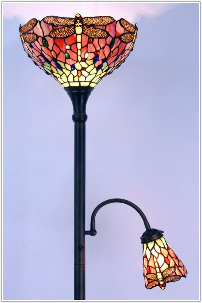 Tiffany Style Floor Lamp With Reading Light