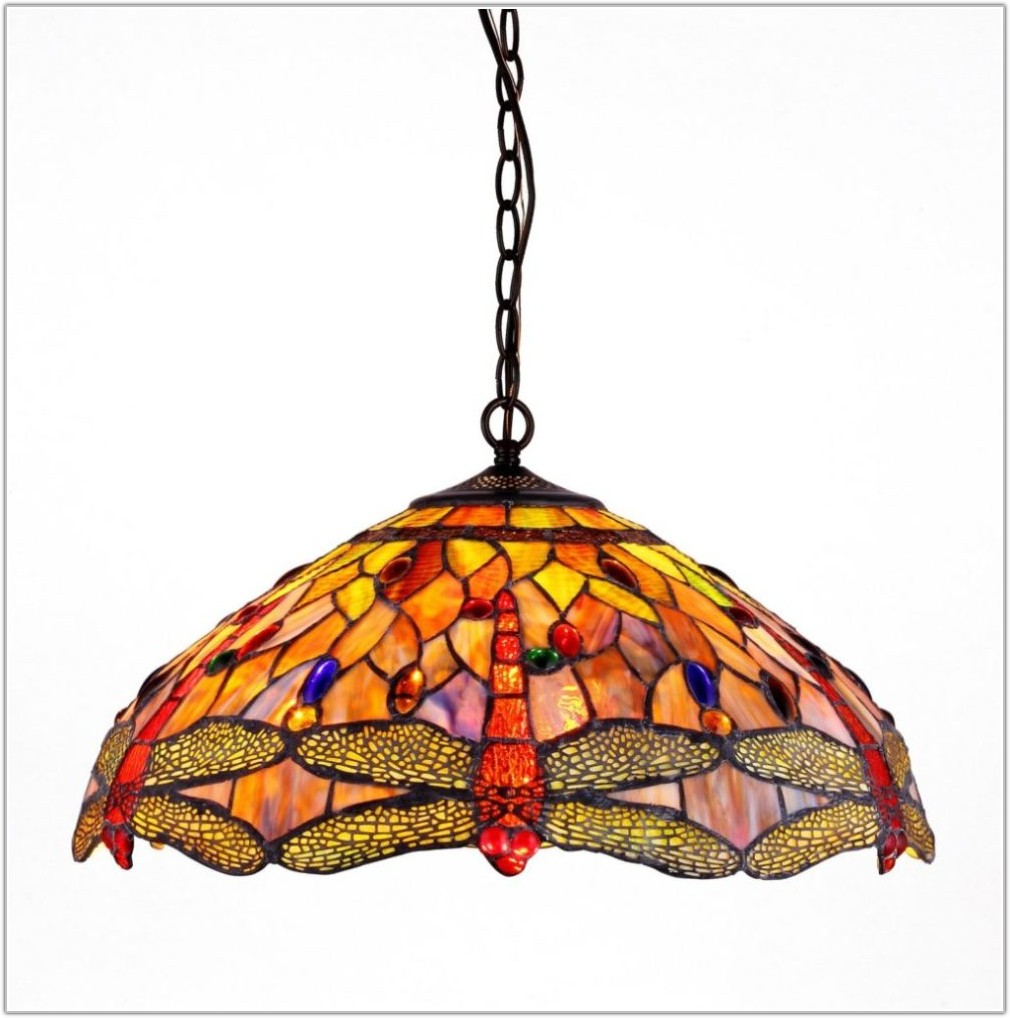 Tiffany Style Hanging Lamps Dragonfly