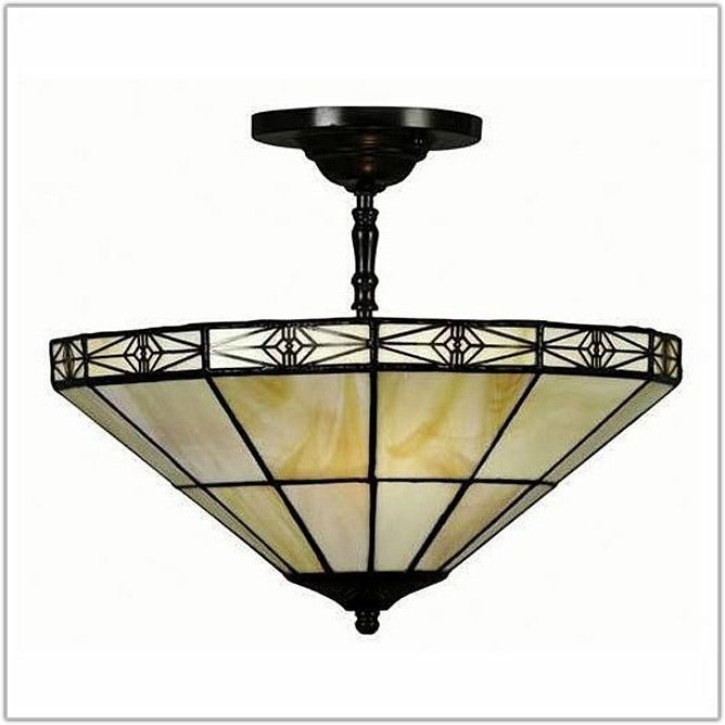 Tiffany Style Mission Hanging Lamp