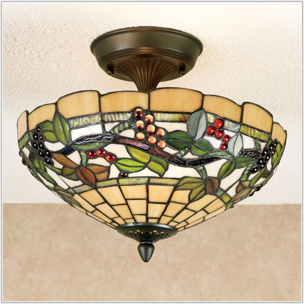Tiffany Style Stained Glass Light Fixtures
