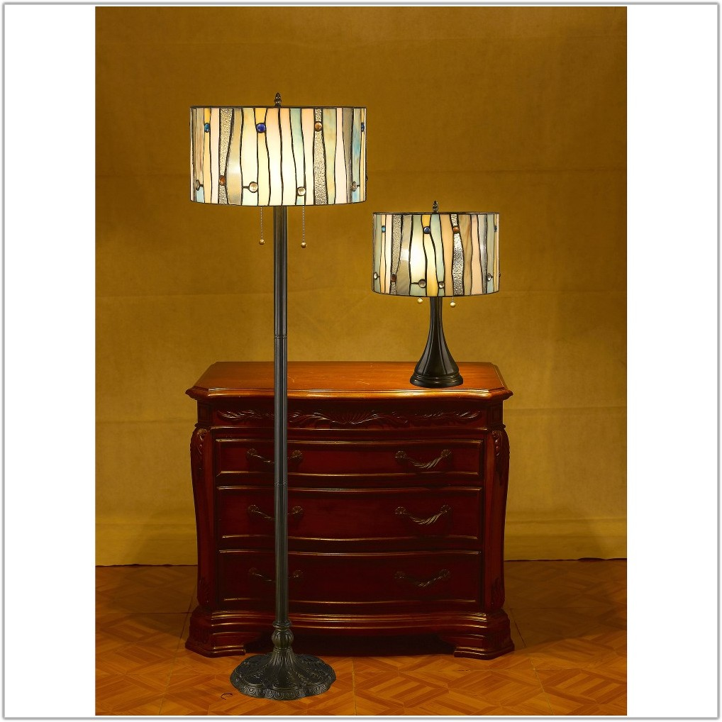 Tiffany Table And Floor Lamp Sets