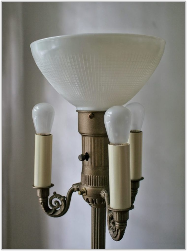 Torchiere Floor Lamp With Metal Shade