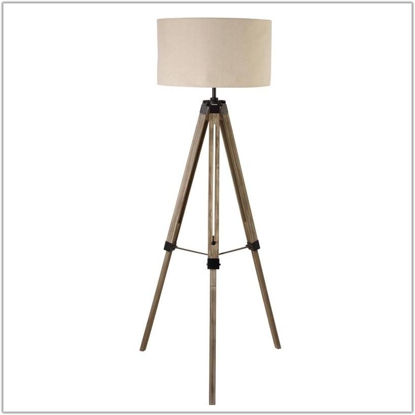 Tripod Floor Lamp Drum Shade