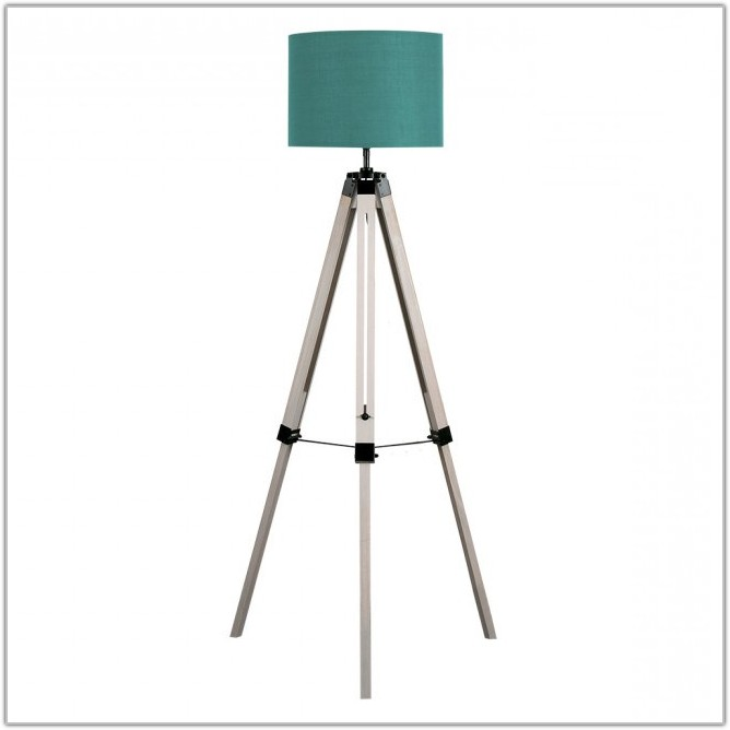 Tripod Floor Lamp With Drum Shade
