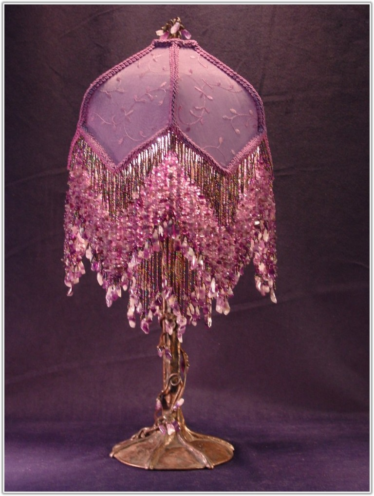Victorian Style Beaded Table Lamps