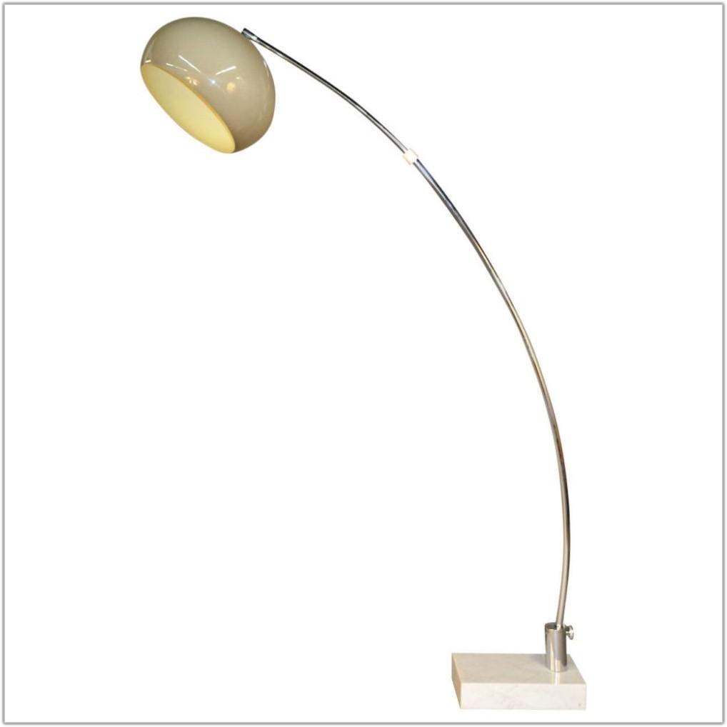 Vintage Arc Floor Lamp Marble Base