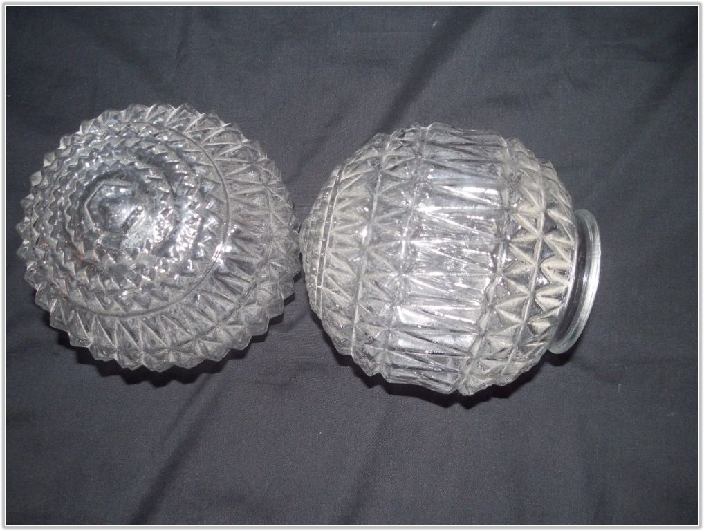 Vintage Art Glass Lamp Shades