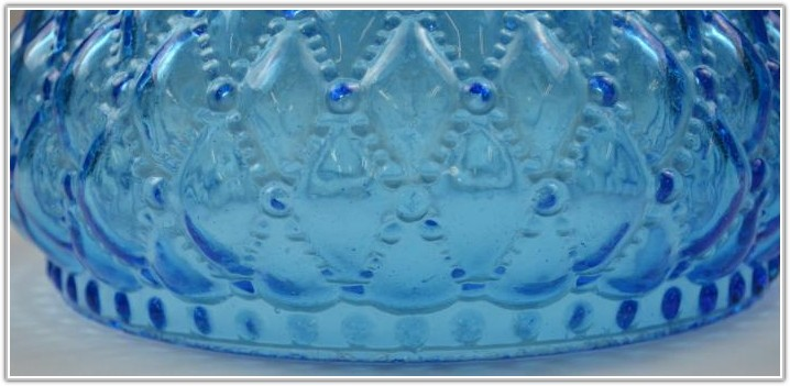 Vintage Blue Glass Lamp Shade