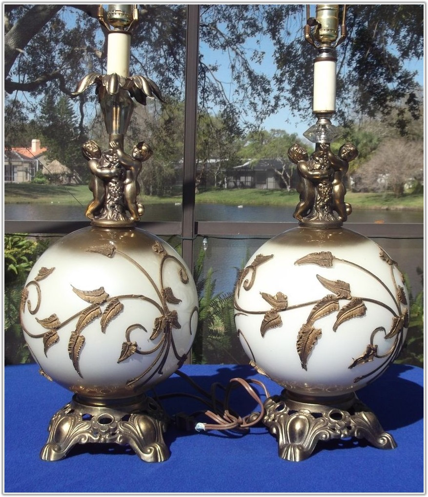 Vintage Brass Table Lamps Ebay