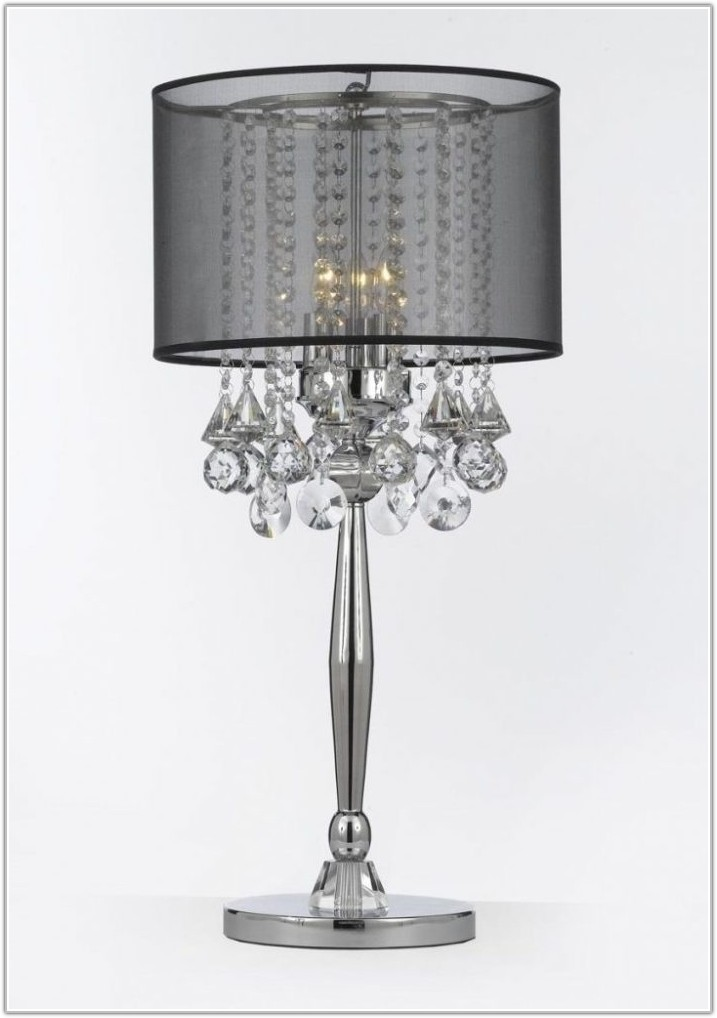 Vintage Crystal Table Lamps With Prisms
