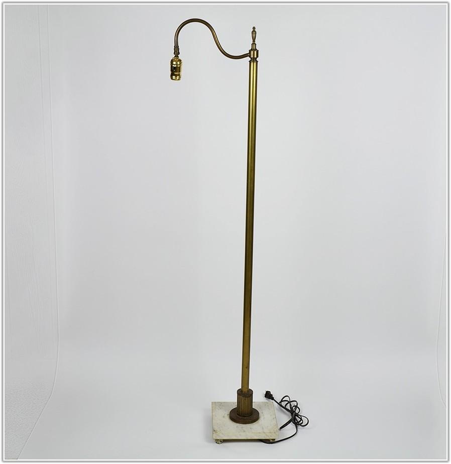 Vintage Floor Lamp Marble Base
