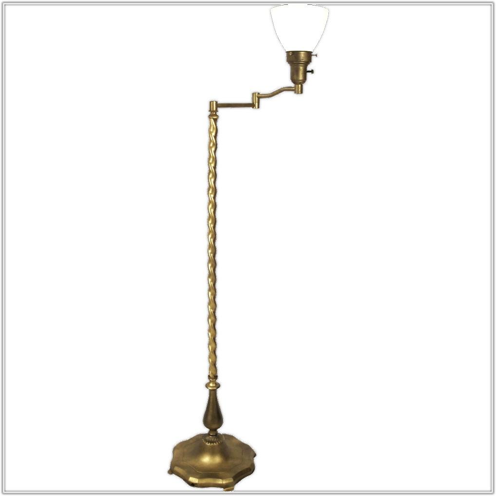 Vintage Floor Lamp With Swing Arm
