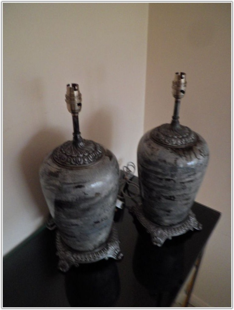 Vintage Glass Table Lamps Uk