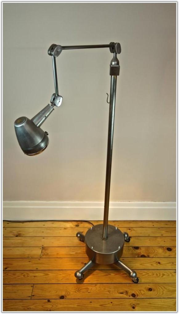 Vintage Industrial Medical Floor Lamp
