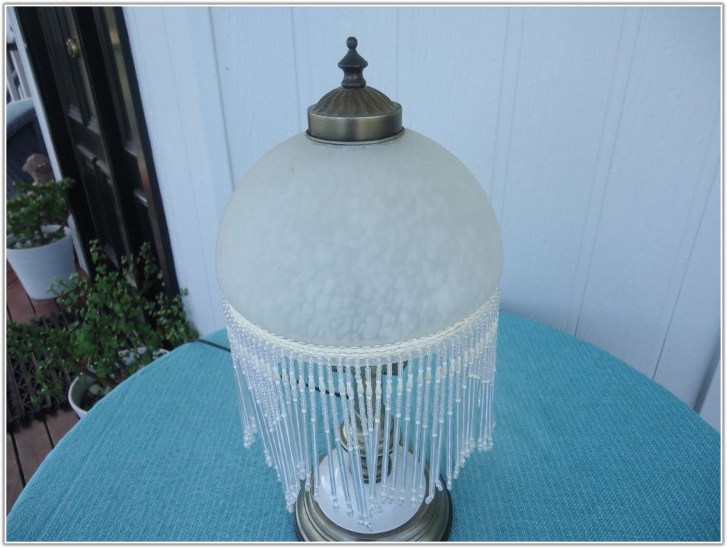 Vintage Lamp Shade With Tassels