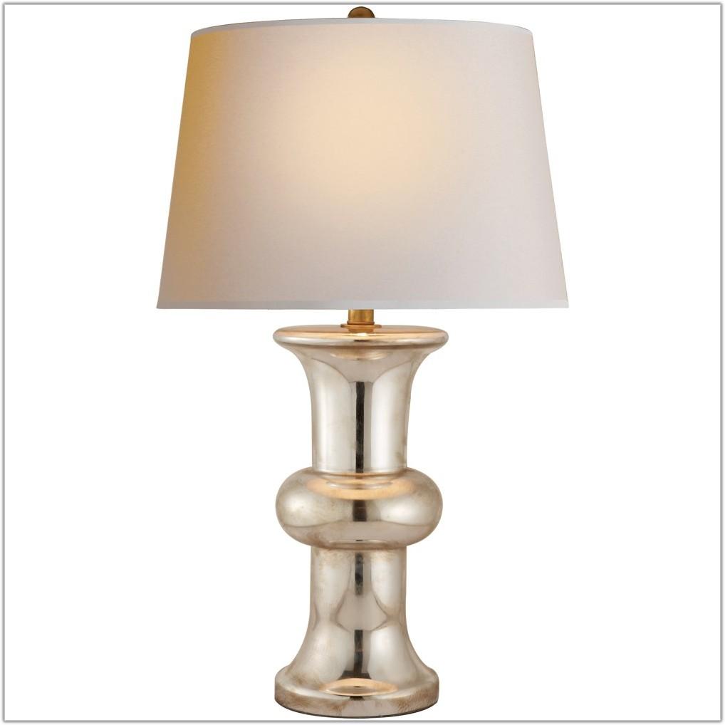 Vintage Mercury Glass Table Lamp