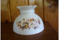 Vintage Milk Glass Lamp Shades