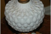 Vintage Milk Glass Table Lamps