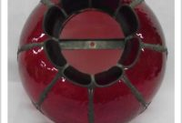 Vintage Red Glass Lamp Shade
