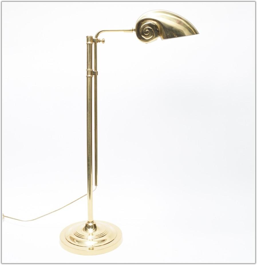 Vintage Solid Brass Floor Lamp