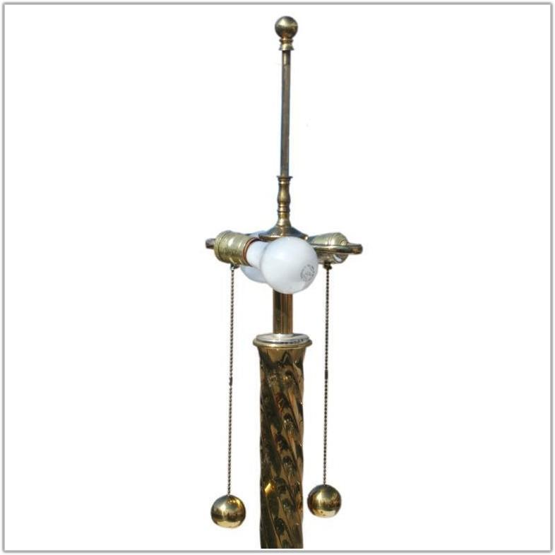 Vintage Stiffel Brass Floor Lamp