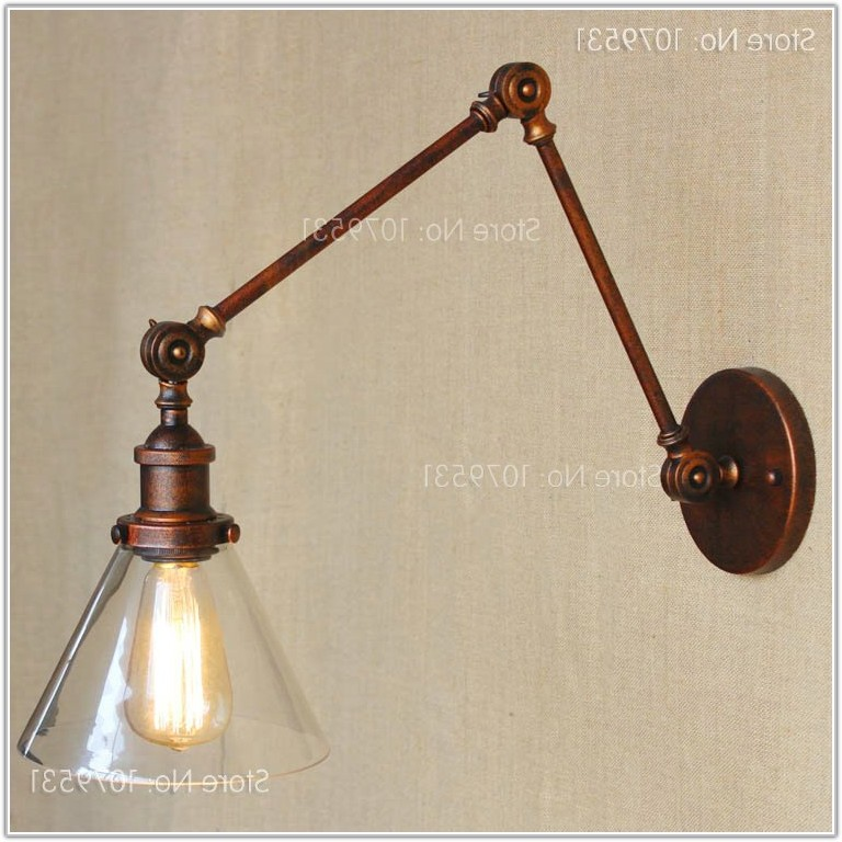 Vintage Swing Arm Wall Lamp