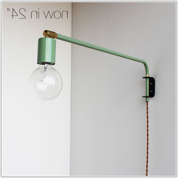 Wall Lamps Swing Arm Brass