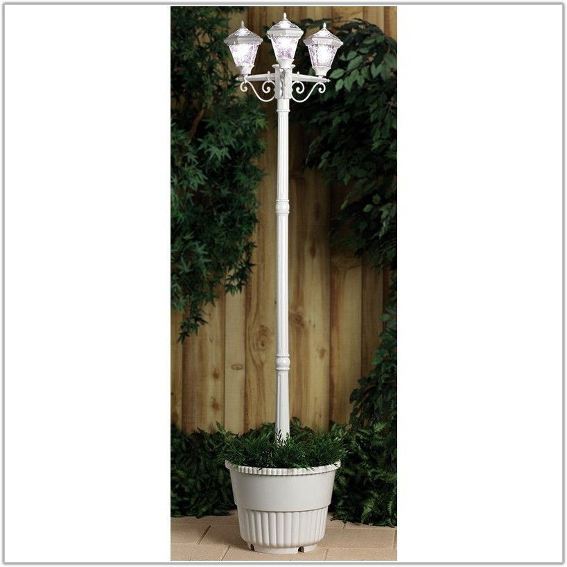 Westinghouse 3 Head White Solar Lamp Post