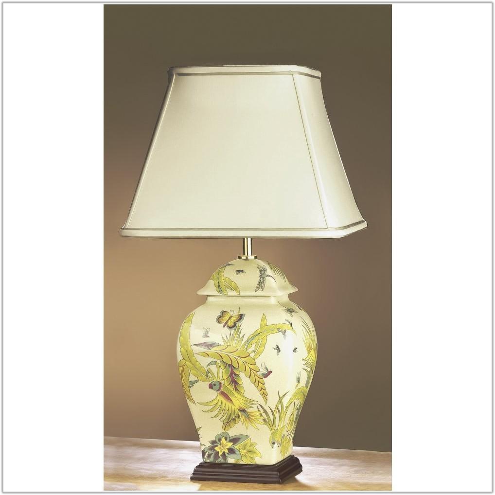 White Ceramic Base Table Lamp