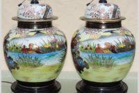 White Ceramic Ginger Jar Lamps