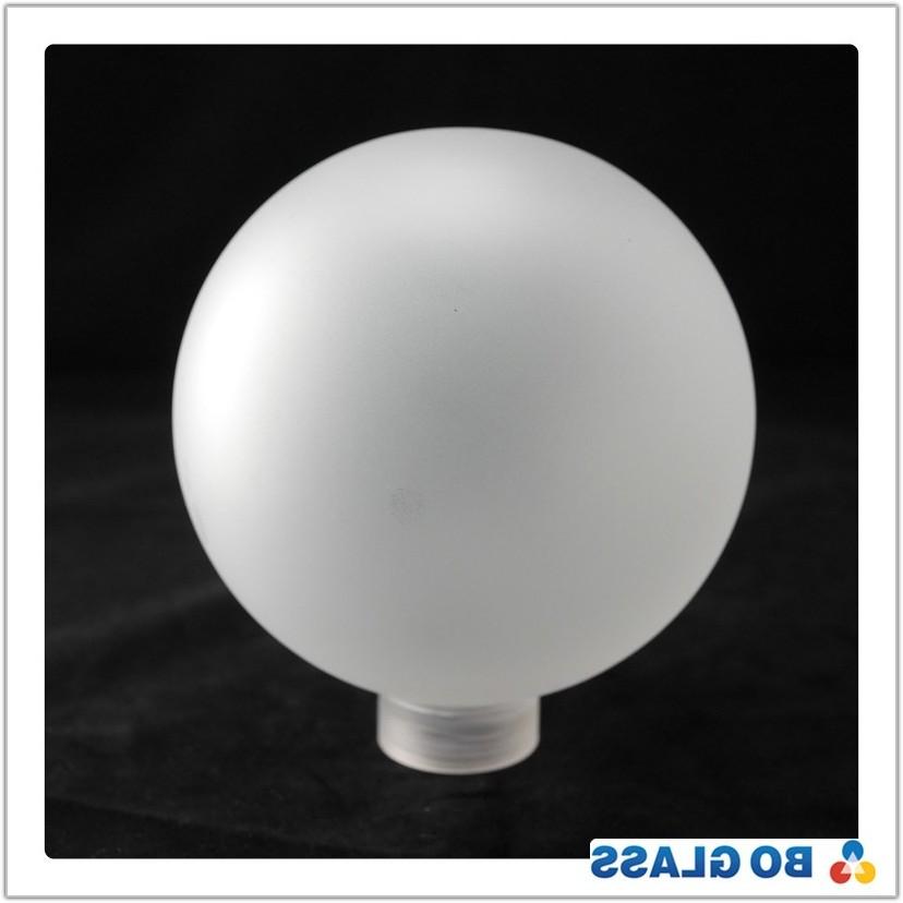 White Glass Ball Lamp Shade