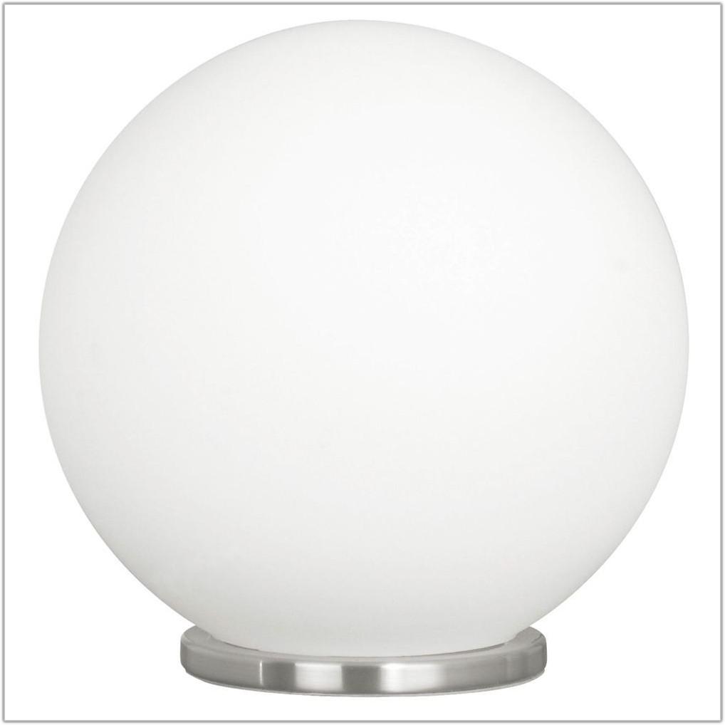 White Glass Globe Table Lamp