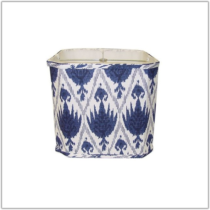 White Linen Square Lamp Shade