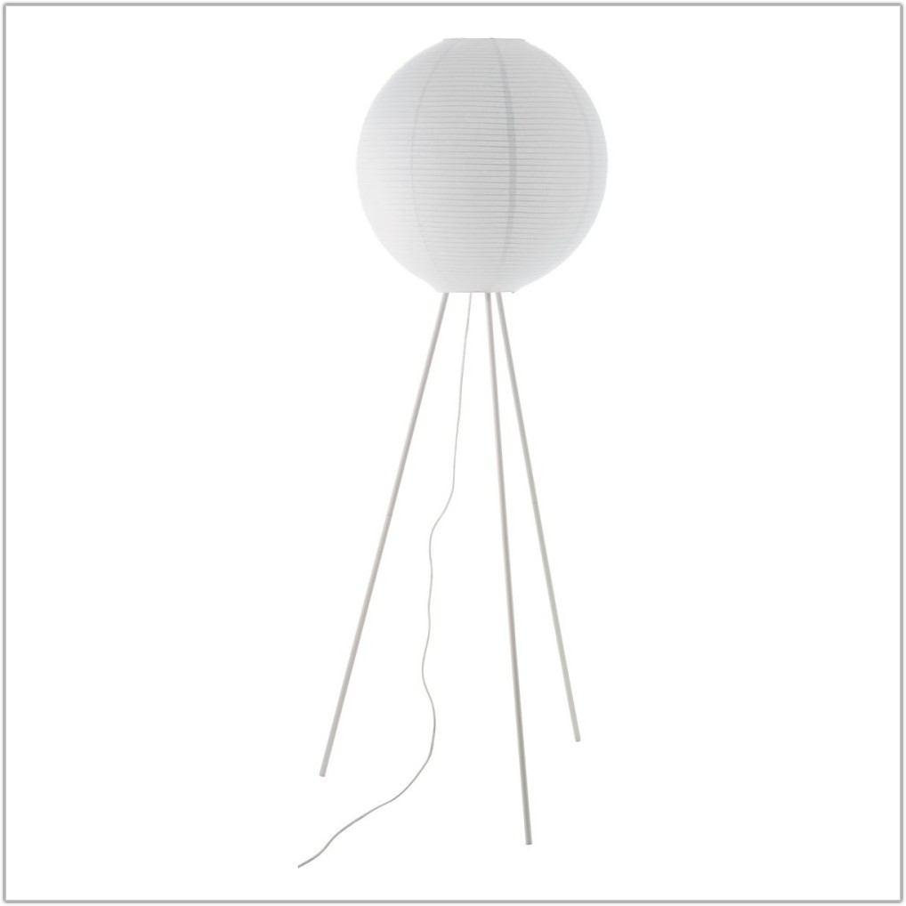 White Paper Shade Floor Lamp