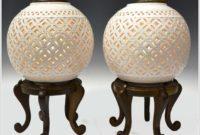 White Pierced Ginger Jar Lamps