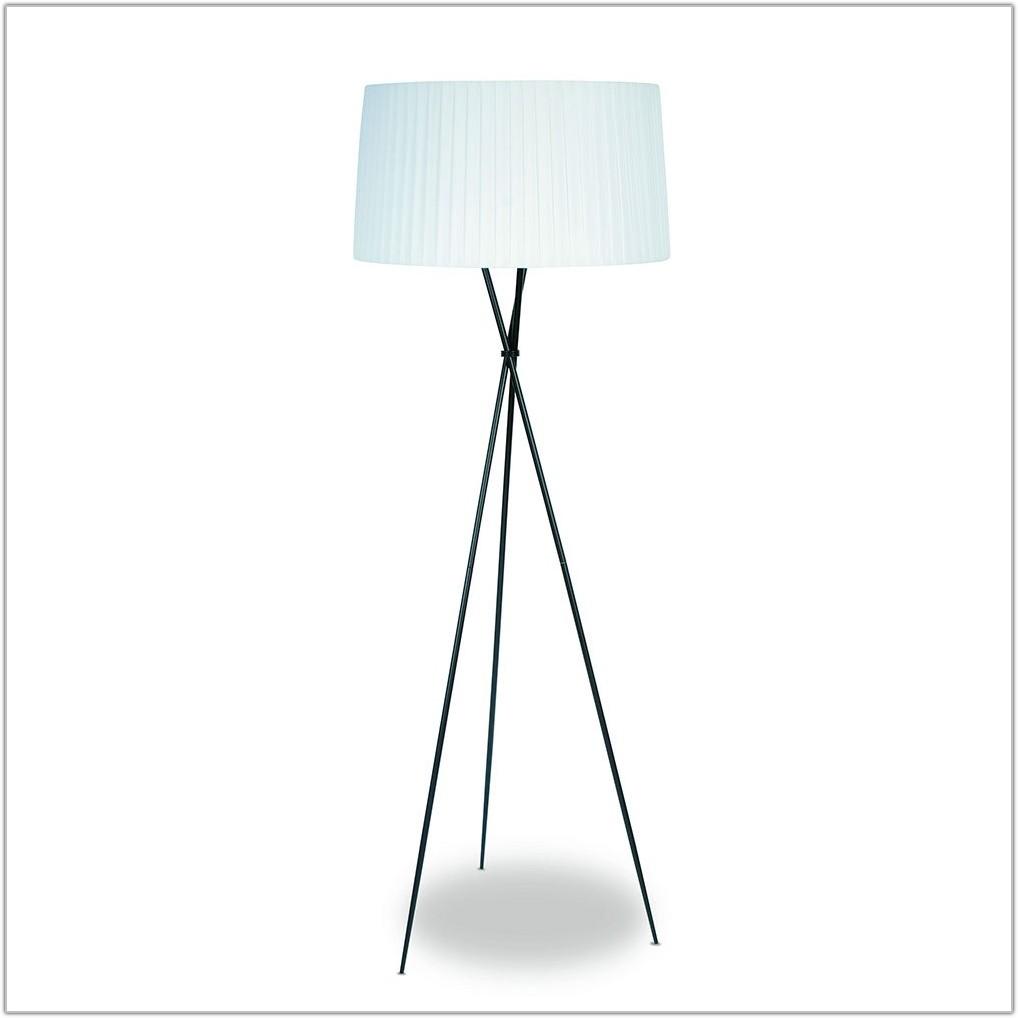 White Shade Tripod Floor Lamp