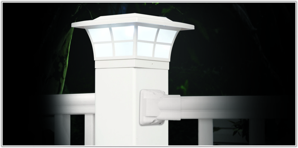 White Solar Post Lights 4x4