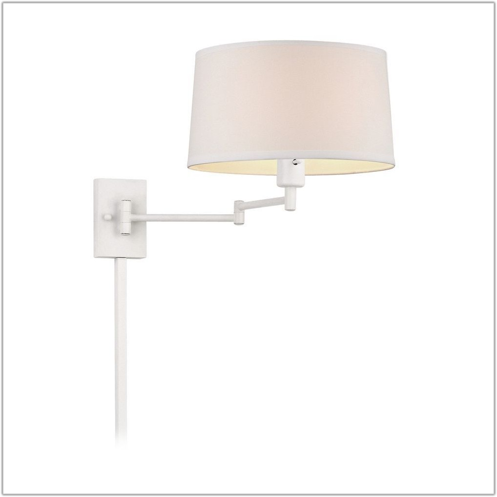 White Swing Arm Wall Lamp