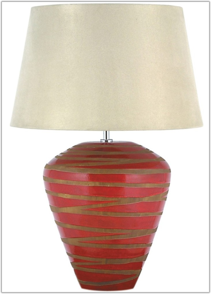 White Turned Wood Table Lamp