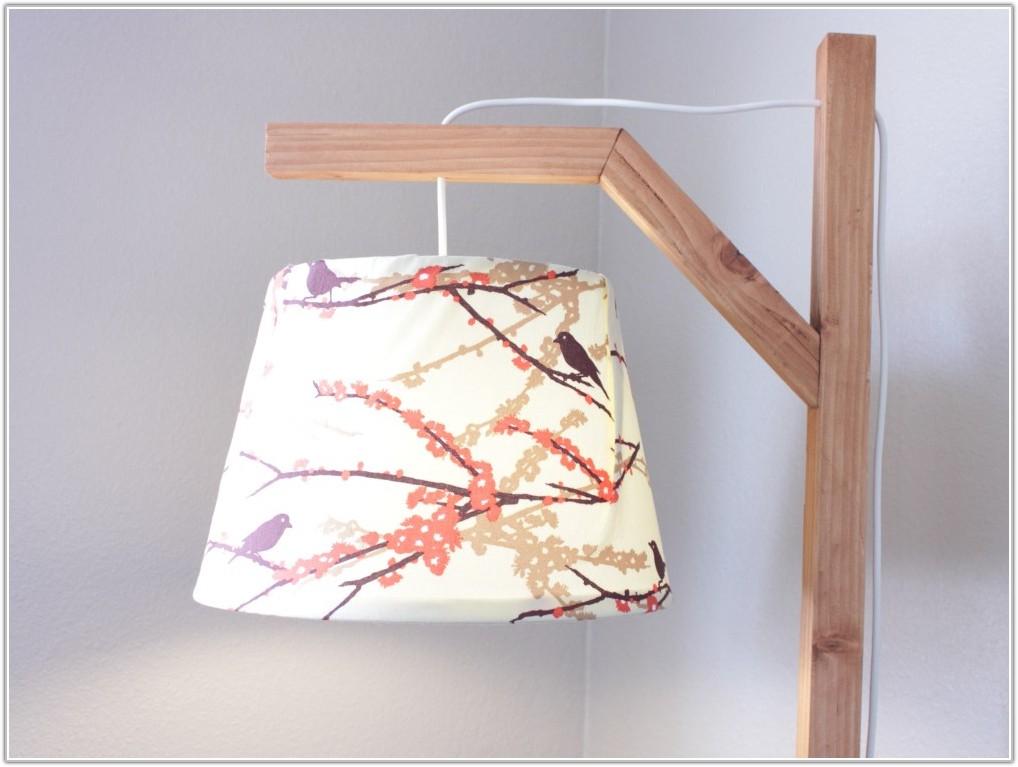 White Wood Floor Lamp Base