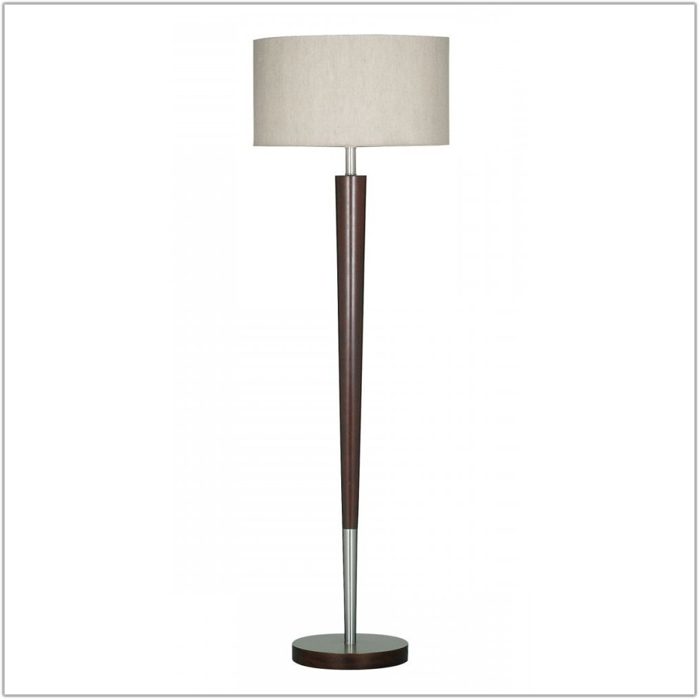 White Wooden Spindle Floor Lamp