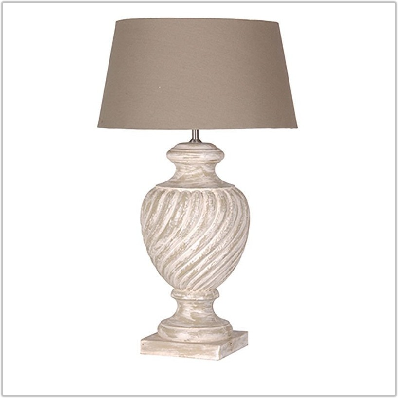 White Wooden Table Lamp Base