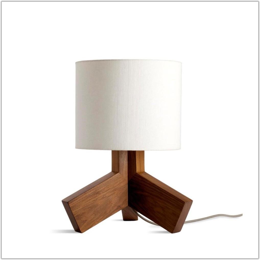 Wooden Base Bedside Table Lamps