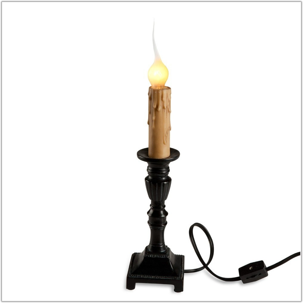 Wooden Candlestick Table Lamp Base