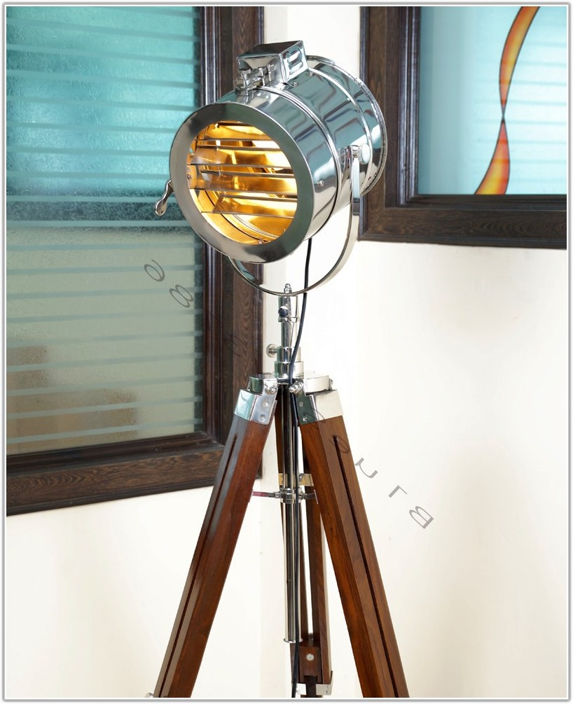 Wooden Tripod Floor Lamp Ebay
