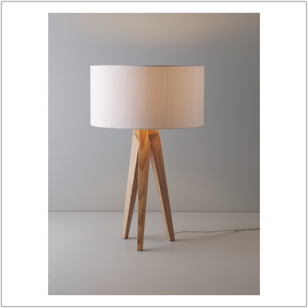 Wooden Tripod Table Lamp Base