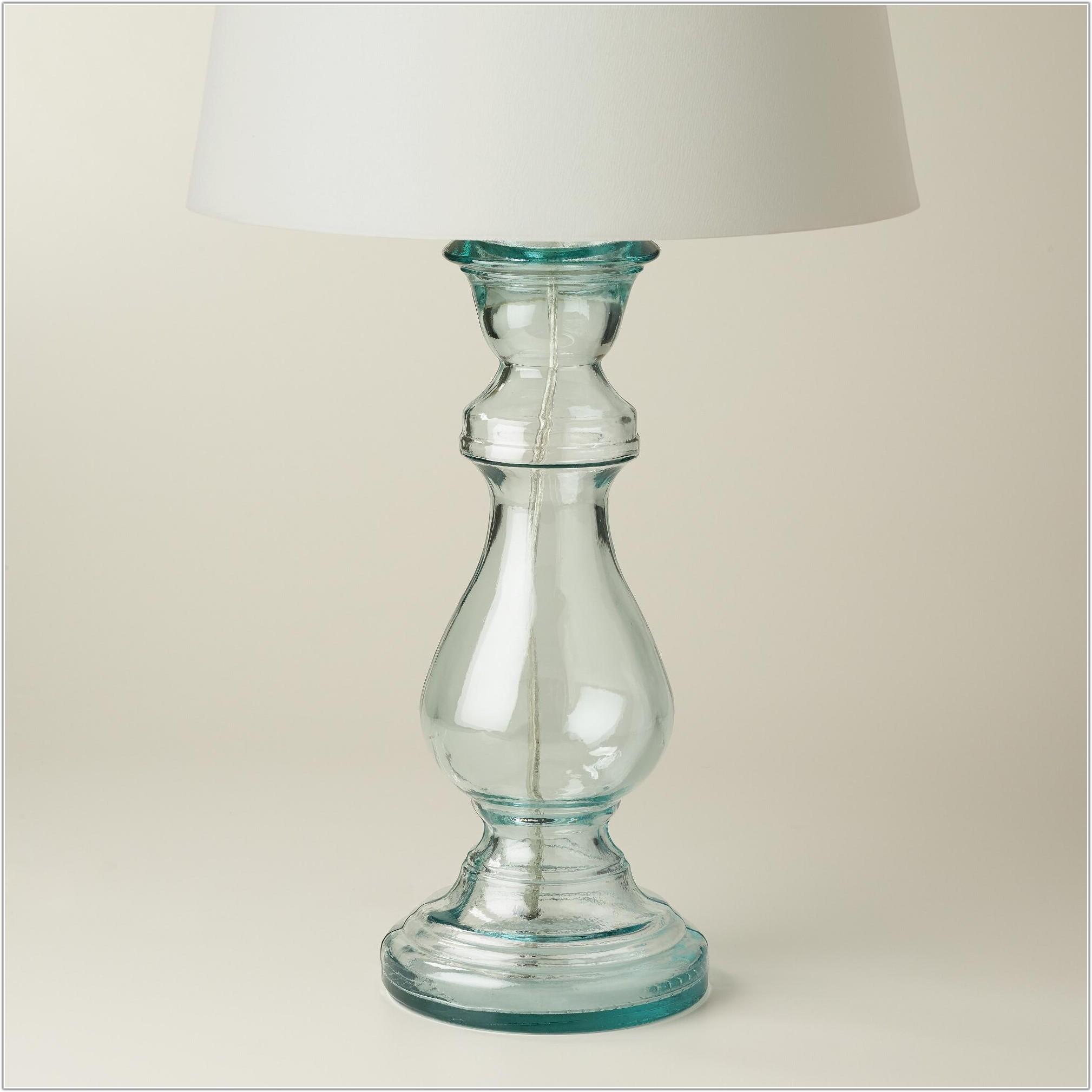 World Market Glass Table Lamp